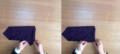 法事で使うときの袱紗の包み・・の画像
